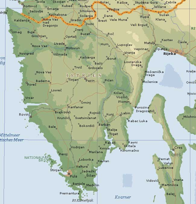 Kroatien Karte Istrien.Reisebericht Kroatien Von Travelbilder De