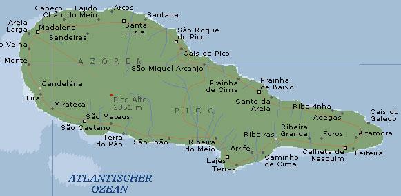 Azoren Karte Portugal.Reisebericht Azoren Von Travelbilder De
